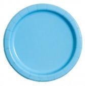 8 Pratos Azul claro redondos 17cm