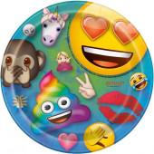 8 Pratos Emoji Rainbow Fun 17cm