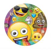 8 Pratos Emoji Rainbow Fun 22cm