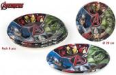 8 Pratos Festa Avengers Marvel 20cm