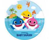 8 Pratos Festa Baby Shark Fun in th Sun 23cm