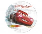 8 Pratos Festa Cars High Speed 23 cm