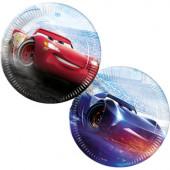 8 Pratos Festa Disney Cars Legend 23 cm