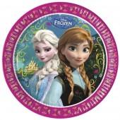 8 Pratos Festa Disney Frozen 23cm