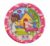 8 Pratos Festa Doutora Brinquedos 23 cm