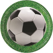 8 Pratos Festa Futebol 23 Cm
