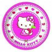 8 Pratos Festa Hello Kitty