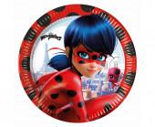 8 Pratos Festa Ladybug 23cm