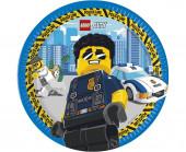 8 Pratos Festa Lego City 23cm