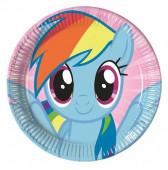 8 Pratos Festa My Little Pony 23cm