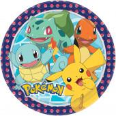 8 Pratos Festa Pokémon 23cm