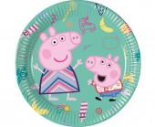 8 Pratos Festa Porquinha Peppa 20cm