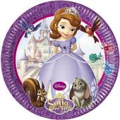 8 Pratos Festa Princesa Sofia 19cm