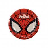 8 Pratos Festa Spiderman 19.50cm