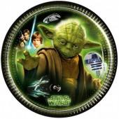 8 Pratos festa Star Wars 20 cm