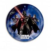 8 Pratos Festa Star Wars Início 20cm