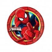 8 Pratos Festa Ultimate Spiderman 18cm