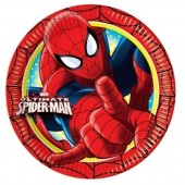 8 Pratos Festa Ultimate Spiderman 23cm