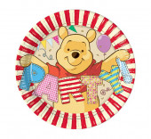 8 Pratos Festa Winnie the Pooh 20cm