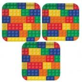 8 Pratos Lego 23cm