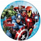 8 Pratos Mighty Avengers 23cm