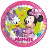 8 Pratos Minnie Disney Happy Helpers 19,5 cm