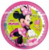 8 Pratos Minnie Disney Happy Helpers 23 cm