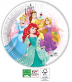 8 Pratos Papel Princesas Disney 23cm
