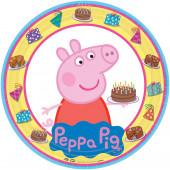 8 Pratos Porquinha Peppa Party 23cm