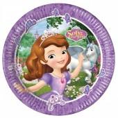 8 Pratos Princesa Sofia 23cm