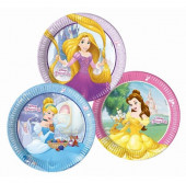8 Pratos Princesas Disney Heart Strong 23cm