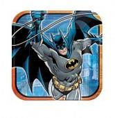 8 Pratos Quadrados Batman 23cm