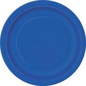 8 Pratos Redondos Azul Royal 22cm