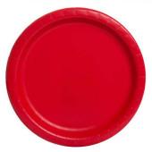 8 Pratos Vermelho 22cm