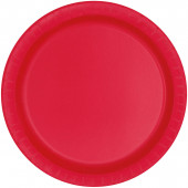 8 Pratos Vermelhos redondos 17cm