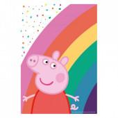 8 Sacos Brinde Porquinha Peppa Rainbow