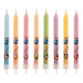 8 Velas Mickey, Minnie e Amigos 9cm