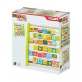 Ábaco de madeira com números e desenhos - Play & Learn