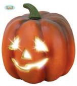 Abóbora sorridente com luz 26cm