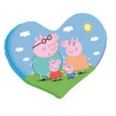 Almofada Coração Peppa Porquinha