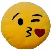 Almofada  Emoji Beijo Malicioso - 25cm