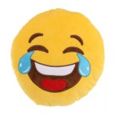Almofada Emoji Chorar de tanto Rir  27cm