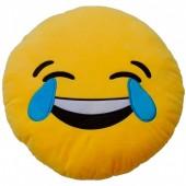 Almofada Emoji Chorar de tanto Rir - 32cm