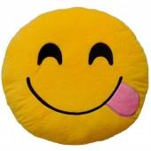 Almofada  Emoji de Guloso Sorridente - 25cm
