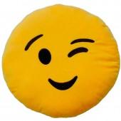 Almofada Emoji Piscadela de Olho - 32cm