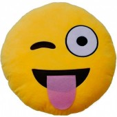 Almofada  Emoji Piscadela de Olho Divertida - 25cm