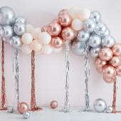 Arco Balões Metalizados com Fitas