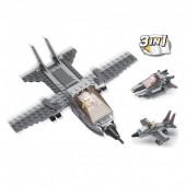 Army 3 em 1 Avião Combate Sluban 125 pcs