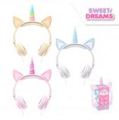 Auriculares Headphones Unicórnio Sweet Dreams Sortido