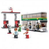 Autocarro 2 Andares com Estação Bricks Sluban